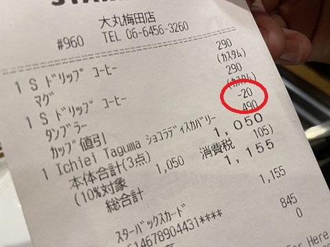 スタバの値引き